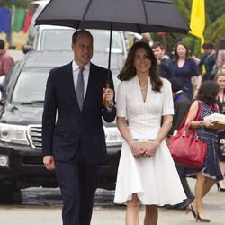 Earlier on Saturday, Kate recycled an Alexander McQueen dress she wore in 2012.