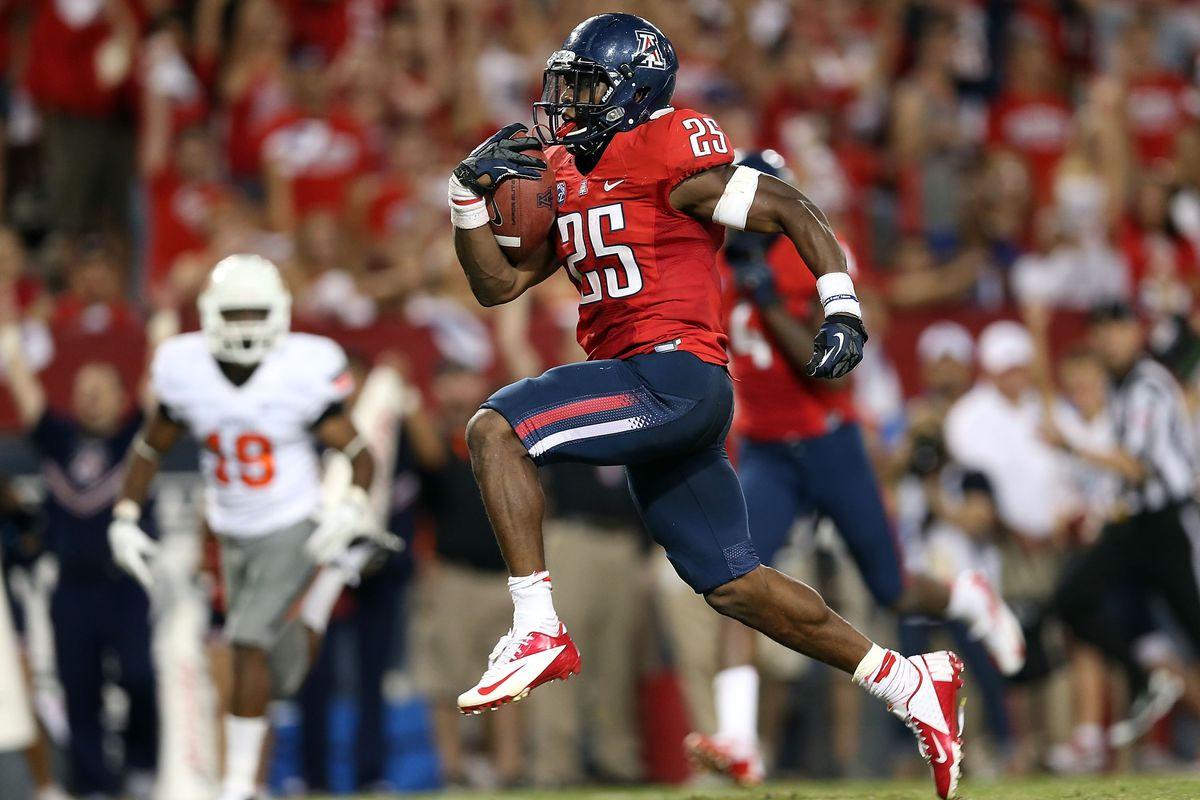 The nation's leading rusher in 2012, Ka'Deem Carey, has been suspended for the season opener against Northern Arizona