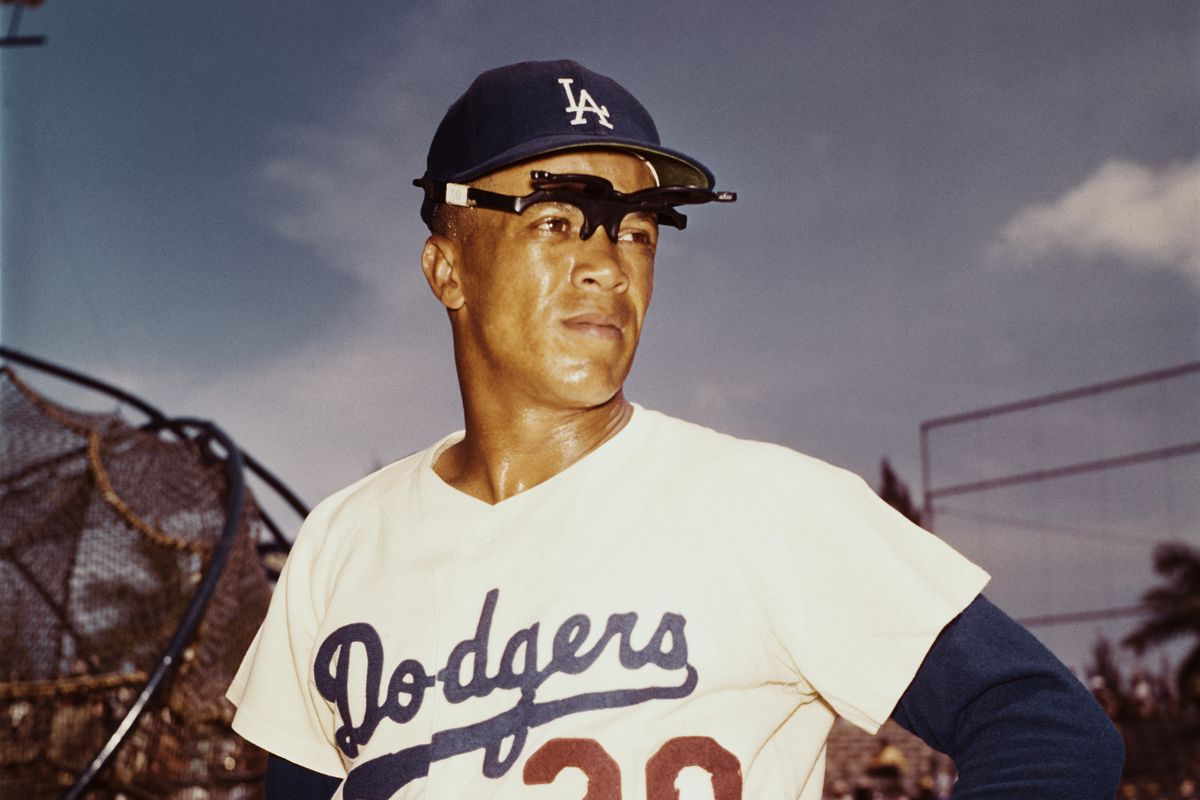 Maury Wills with Head Turned