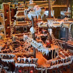 Treasure Island's gingerbread replica of the pirate ship.