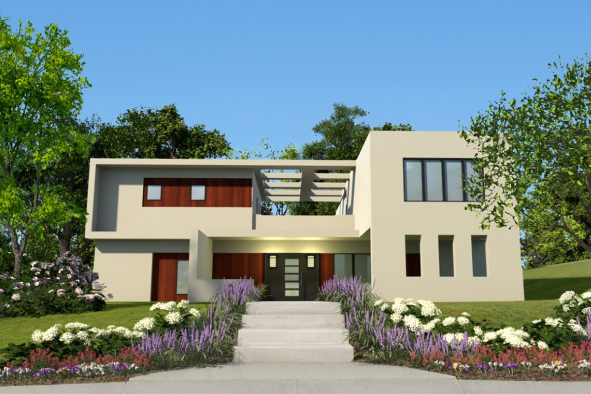 A Modern Home Design On Higharc New Program Being Developed That Allows Homebuilders To Customize Their Designs