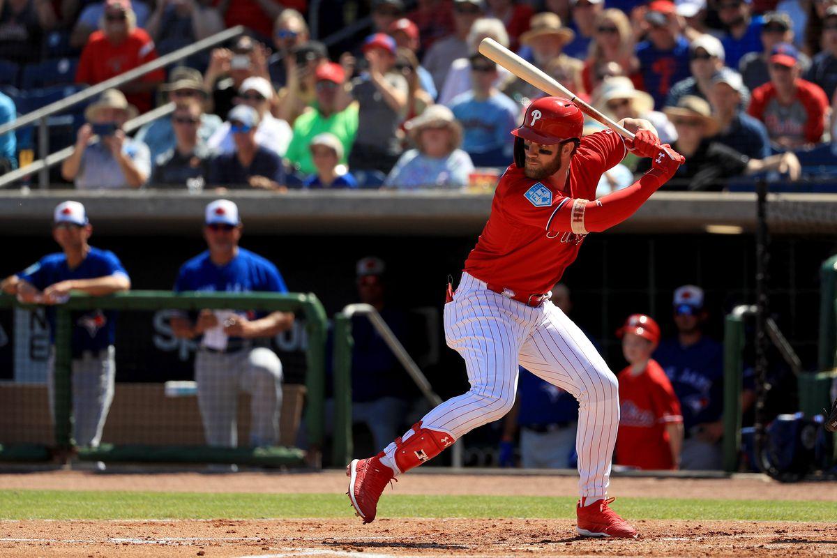 Bryce Harper swinging the bat