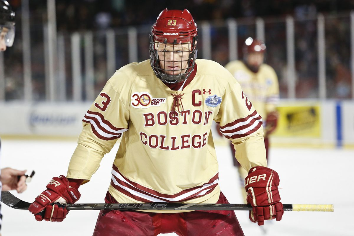 Christopher Brown's brother Patrick was the Boston College captain for the 2013-14 season.