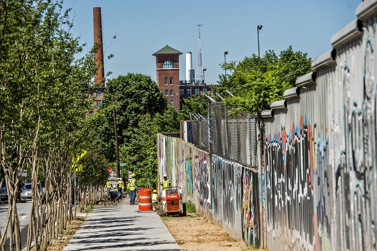 The new Beltline Eastside Trail as it wends through Cabbagetown.