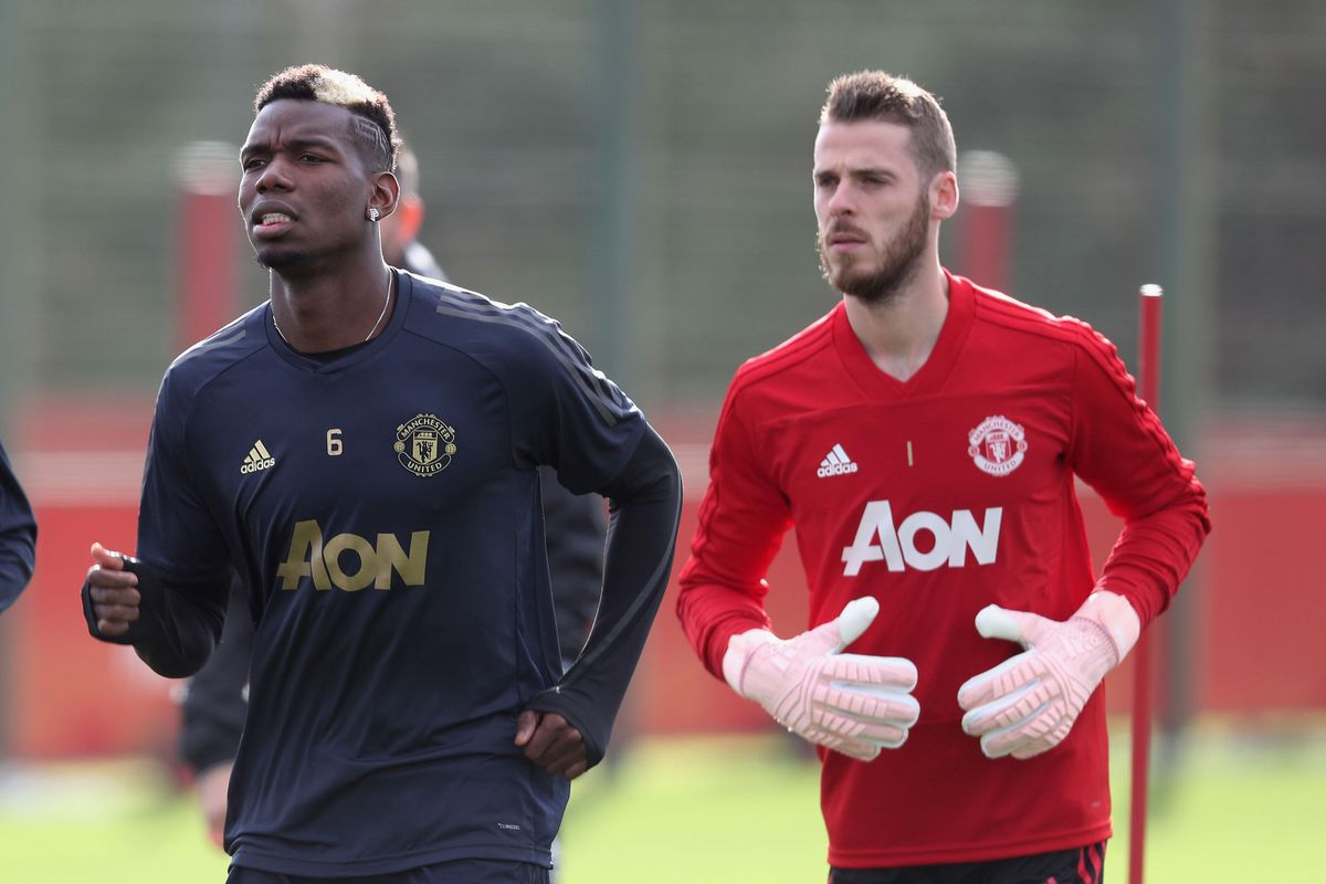 Image result for paul pogba with de gea