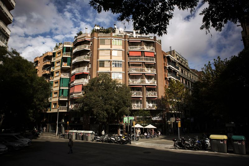 Apartments overlook the edge of the Sant Antoni superblock, on October 14th, 2018.