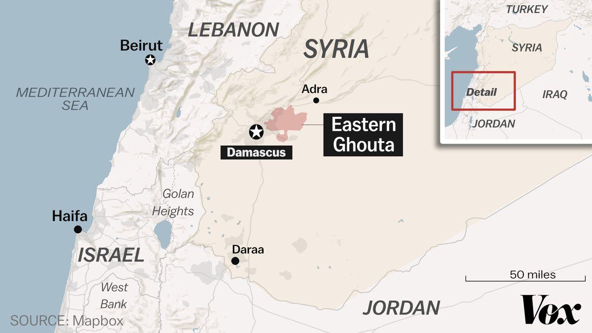 eastern ghouta map syria