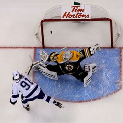 Scoring on Tim Thomas in the elimination shootout in 2012