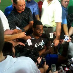 Braxton Miller, positively thrilled to be meeting with the media.