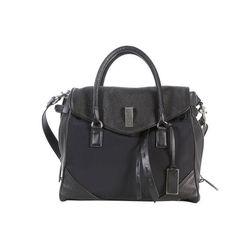 Joy Gryson Saksia mixed media bag in black, $250 (was $775)