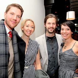 Tim O'Shea of Vesta Dipping Grill, Michaela Franz of the Kitchen, Kevin & Michelle Delk of Beatrice & Woodsley