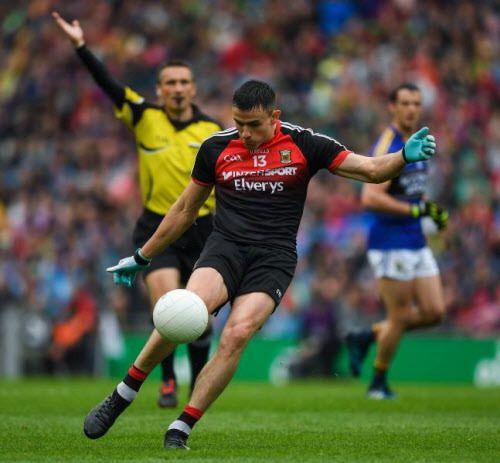 Jason Doherty of the Mayo GAA Gaelic Football team in action in a match earlier this season. | Mayogaa.com