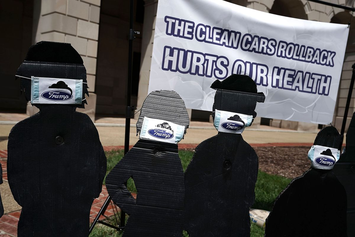 Protestors Rally At EPA HQ After Rollback Of Strict Fuel Efficiency Standards