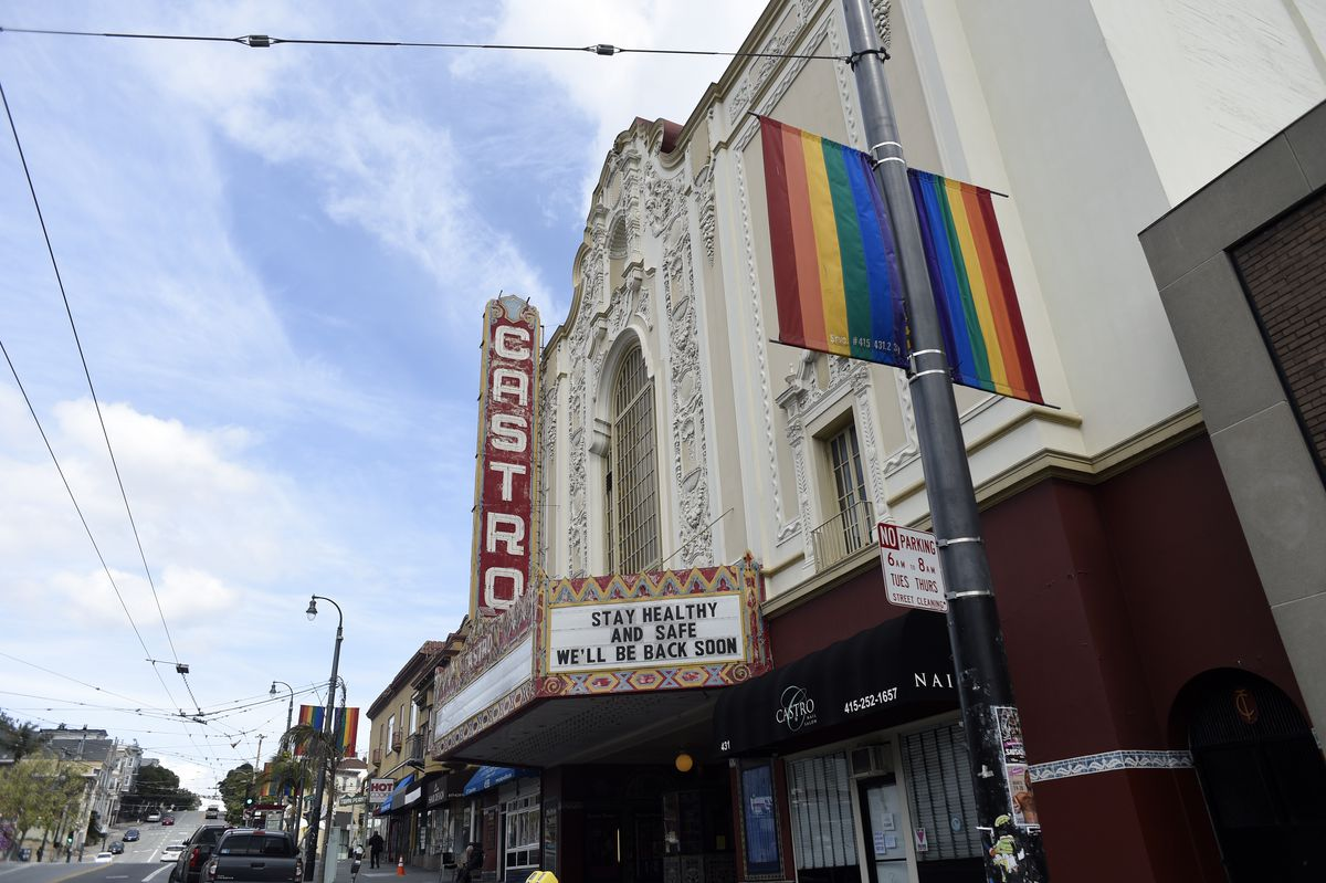 The marquee and entrance to the Castro Theater in San Francisco.