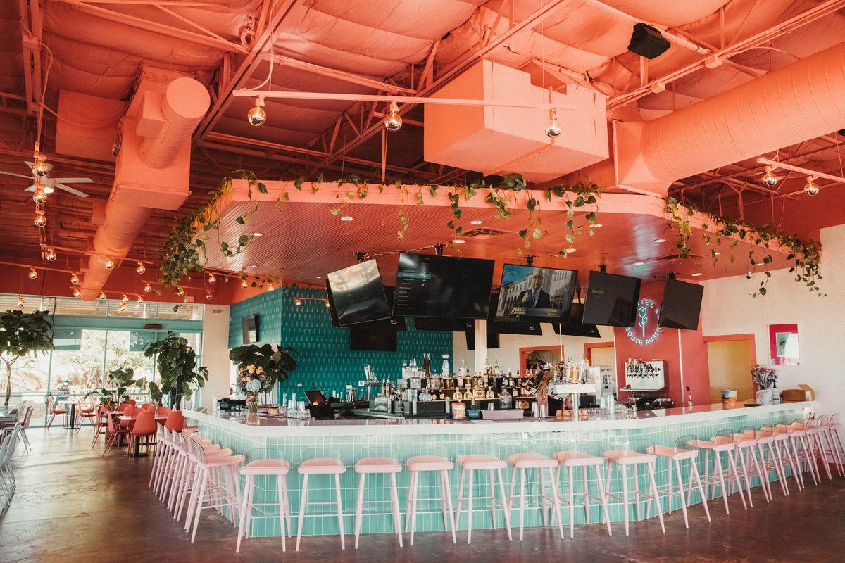 The bar at Gabriela's South Austin location