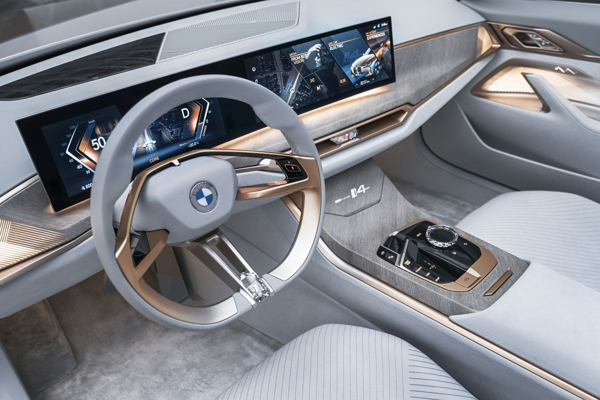 BMW's electric i4 sedan finally shown off in concept form - The Verge