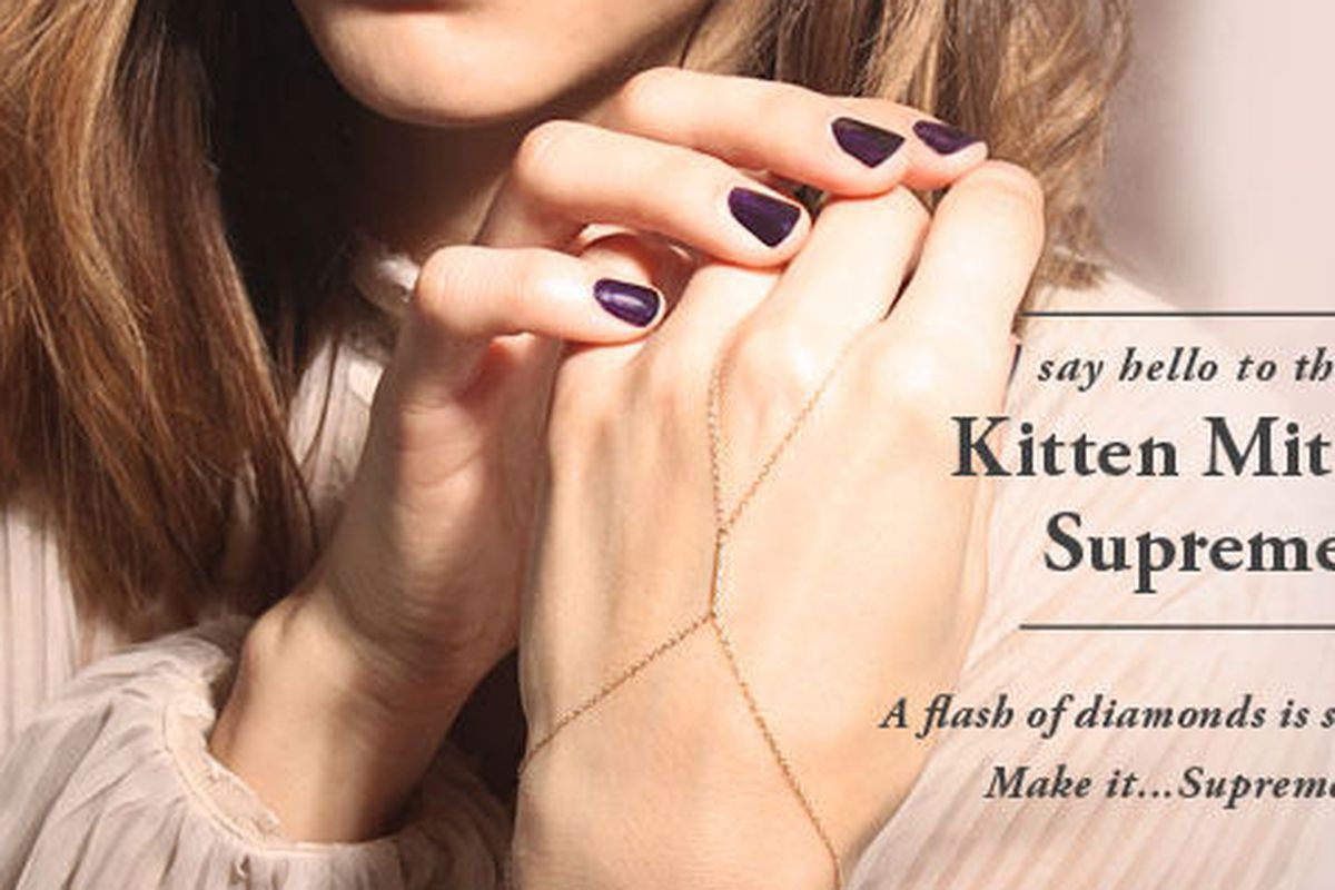 "Catbird Kitten Mitten Supreme, <a href=""https://catbirdnyc.com/shop/home.php?cat=492&amp;sort=newest&amp;sort_direction=2"">$390</a>"