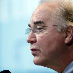 """House Budget Committee Chairman Tom Price, R-Ga., President-elect Donald Trump's choice for Health and Human Services Secretary, delivers the keynote address at an event hosted by the Brookings Institution titled """"A Reform Agenda for the Federal Budget Process,"""" on Wednesday, Nov. 30, 2016, in Washington, D.C."""