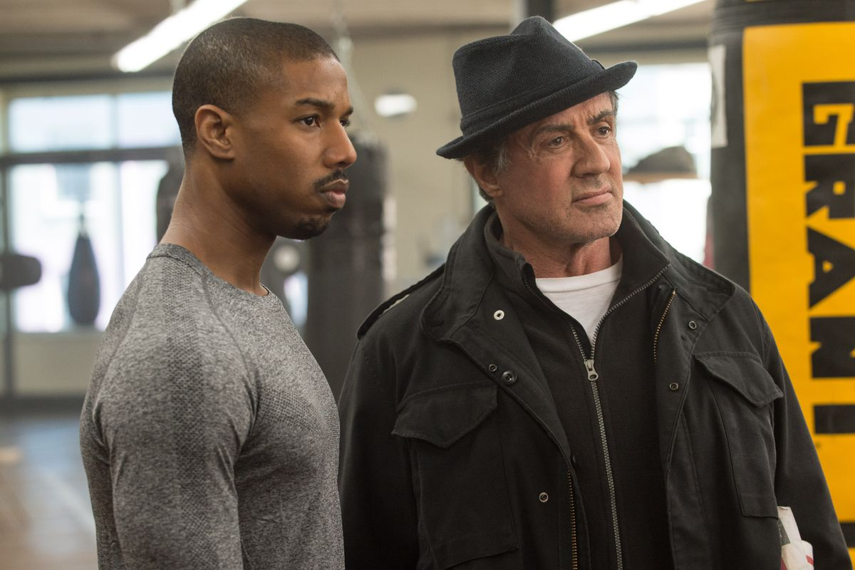 Michael B. Jordan and Sylvester Stallone in 'Creed'