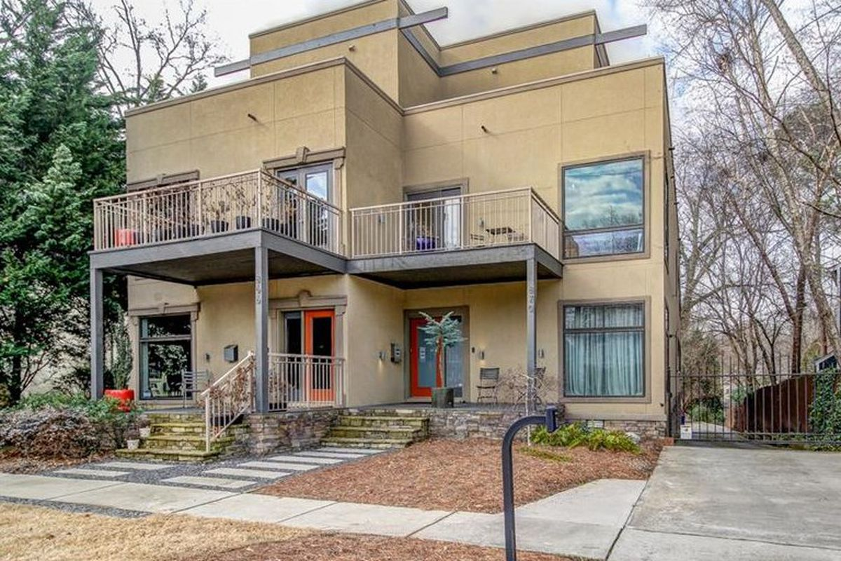 A photo of a modern townhome for sale on Piedmont Park.