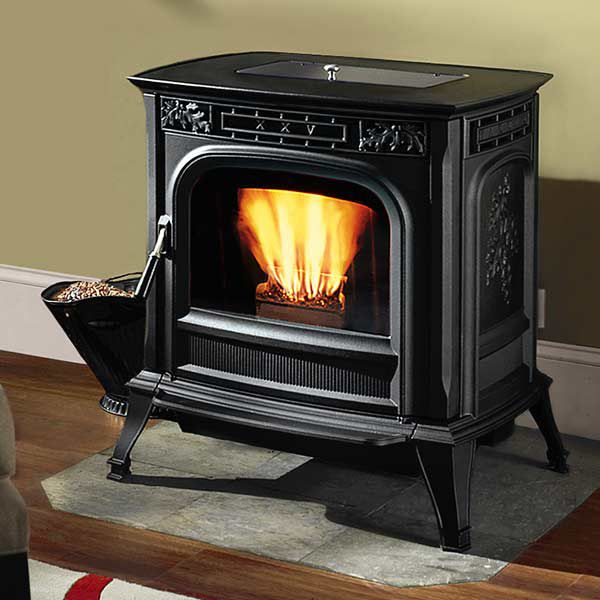 Freestanding Pellet Stove Near Wall