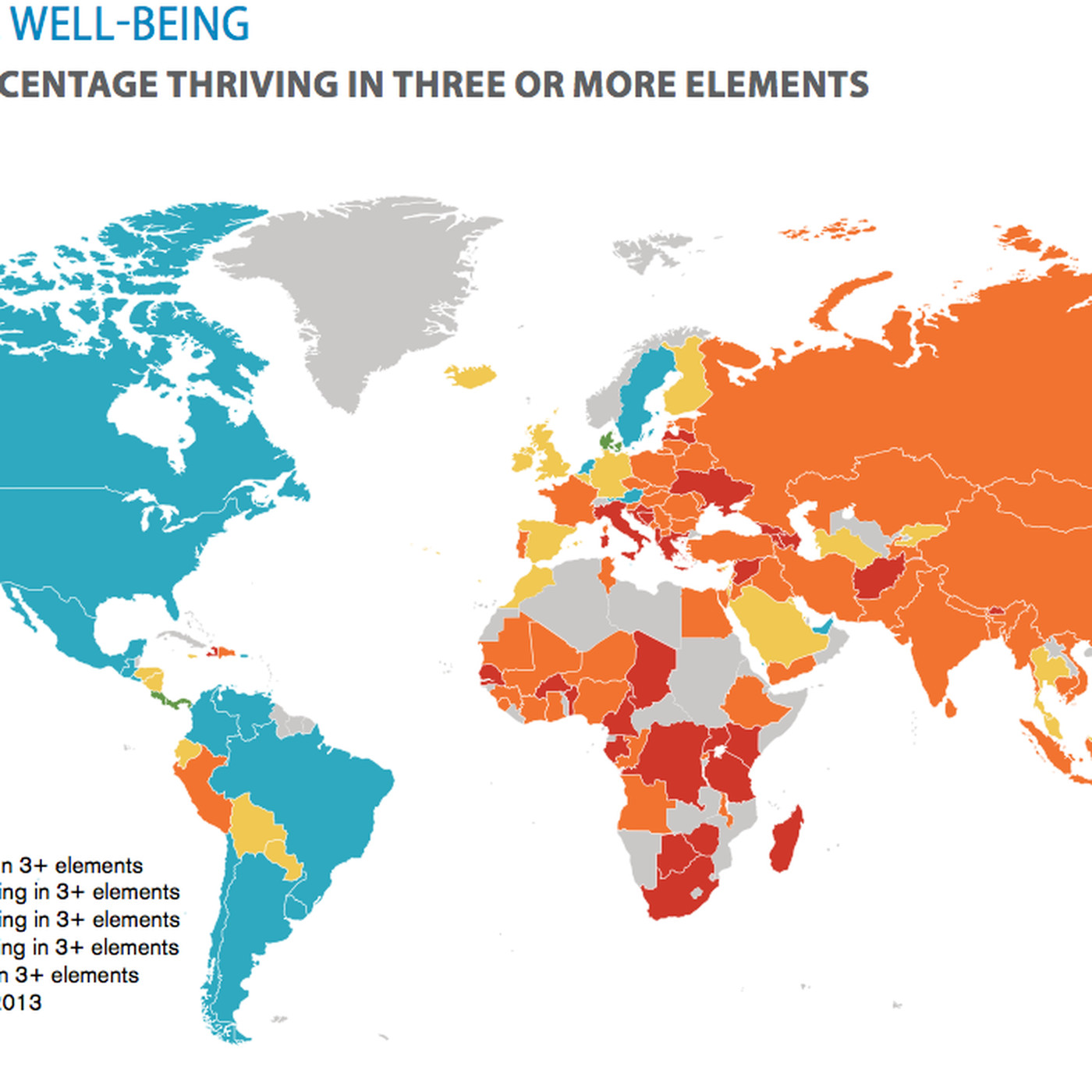 the world s happiest nations in one map vox
