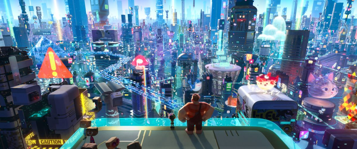 Ralph Breaks the Internet - Vanellope and Ralph arrive at the World Wide Web