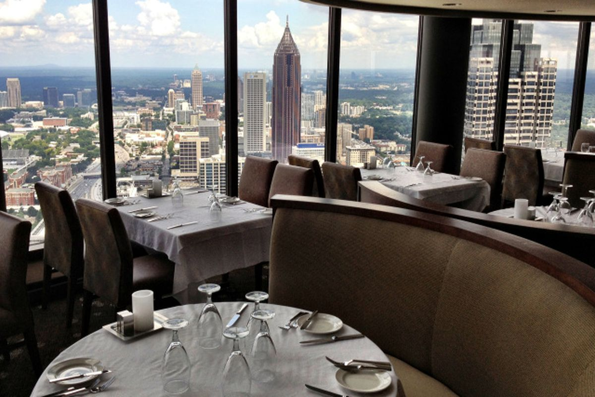 1 Downtown The Sun Dial Has Reopened After Extensive Renovations In Westin Peachtree Plaza Get Scoop On New Menu Which Includes A Lot Of