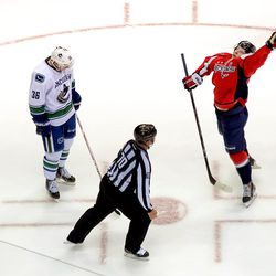 Backstrom Jumps For Tossed Puck