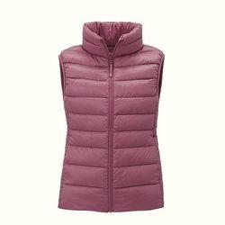 "<b>Uniqlo</b> Ultra Light Down Vest, <a href=""http://www.uniqlo.com/us/store/lifewear/women-ultra-light-down-vest/078797-11-003?ref=womens-clothing%2Fwomens-outerwear%2Fwomens-jackets-and-coats"">$49.90</a>"