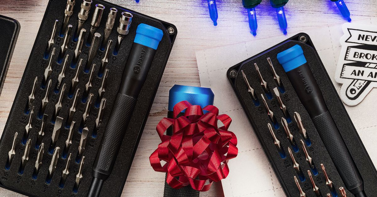iFixit's secret-Santa-priced screwdriver sets have the bits to open a MacBook or Switch