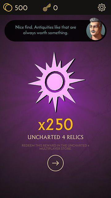 Uncharted: Fortune Hunter - reward screenshot 360