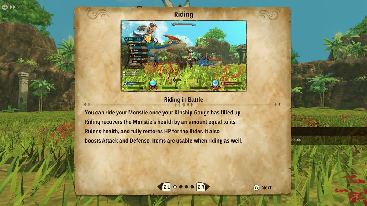 An explanation of riding in Monster Hunter Stories 2: Wings of Ruin
