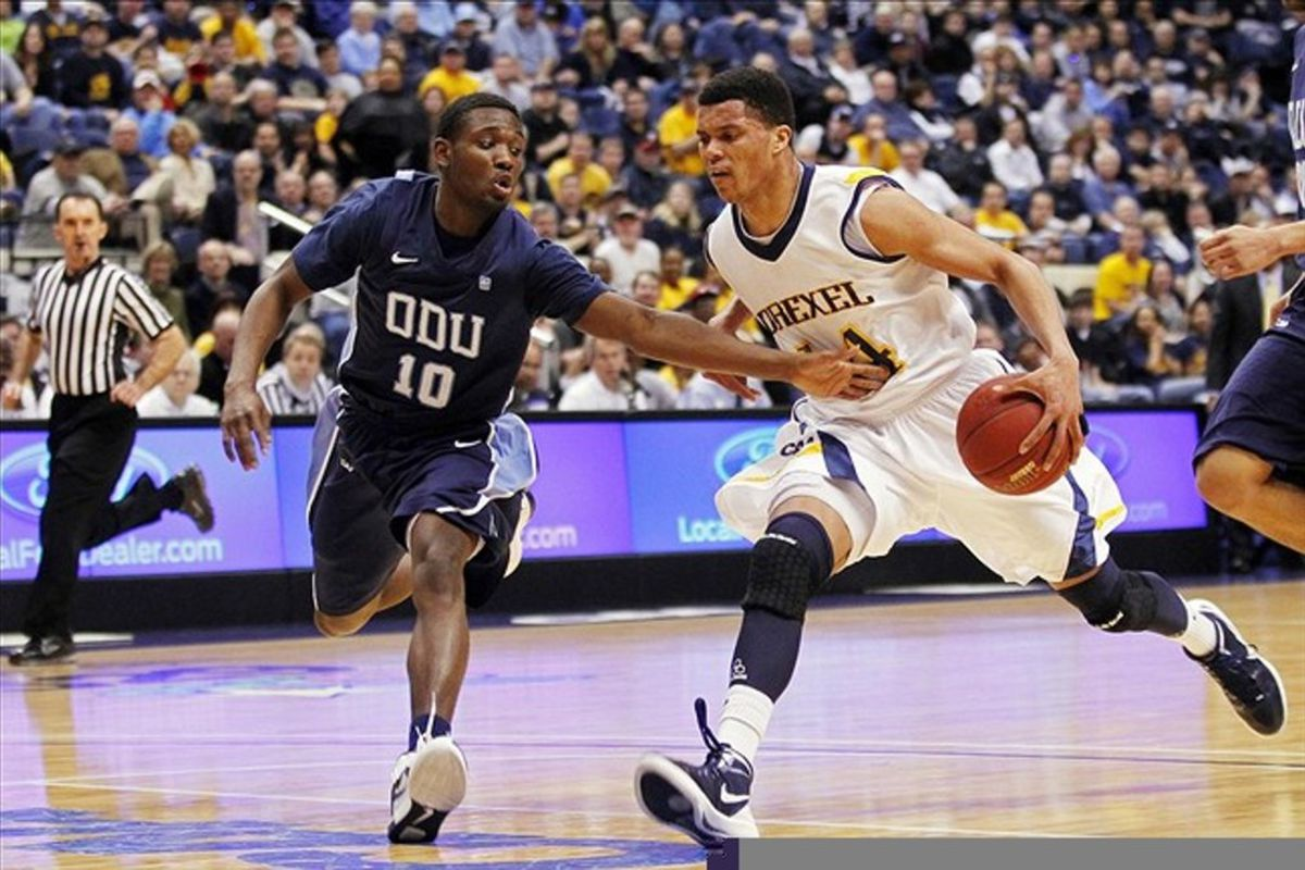 Drexel Dragons guard Damion Lee (14) needed one more win to make the NCAA Tournament. 27 wins looks good on paper, but it just was not enough.