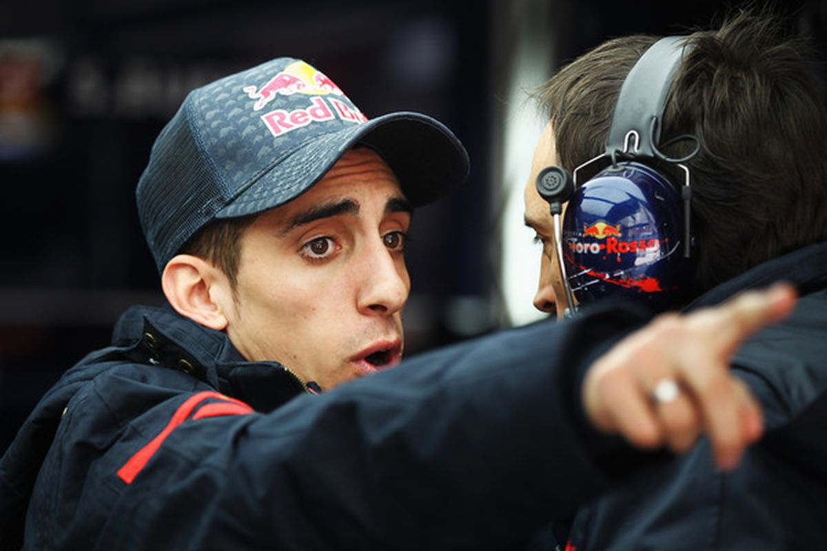 This is Sebatian Bueimi. He's a Swiss race car driver. But I think he looks like a hyped up Jon Daniels.