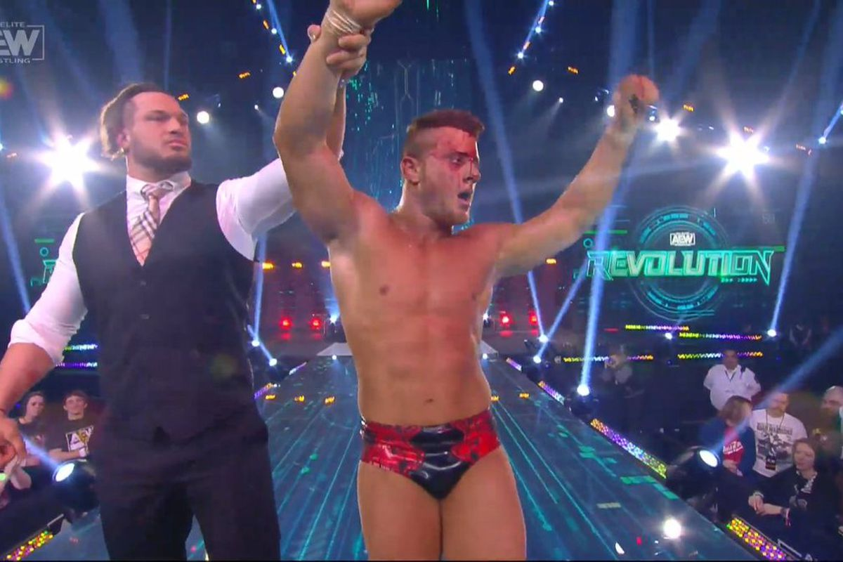 MJF defeats Cody at Revolution as AEW continues to build their future top  heel - Cageside Seats