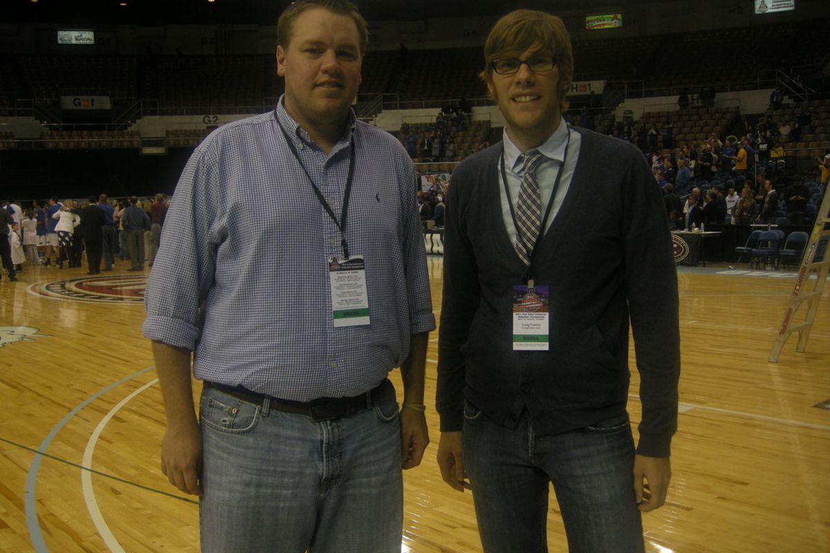 Just a couple of guys that spent four days at the OVC tournament eating free Qdoba, drinking diet soda, and giving their best to act like they knew what they were doing.