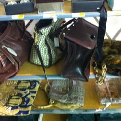 Expensive purses in the housewares section