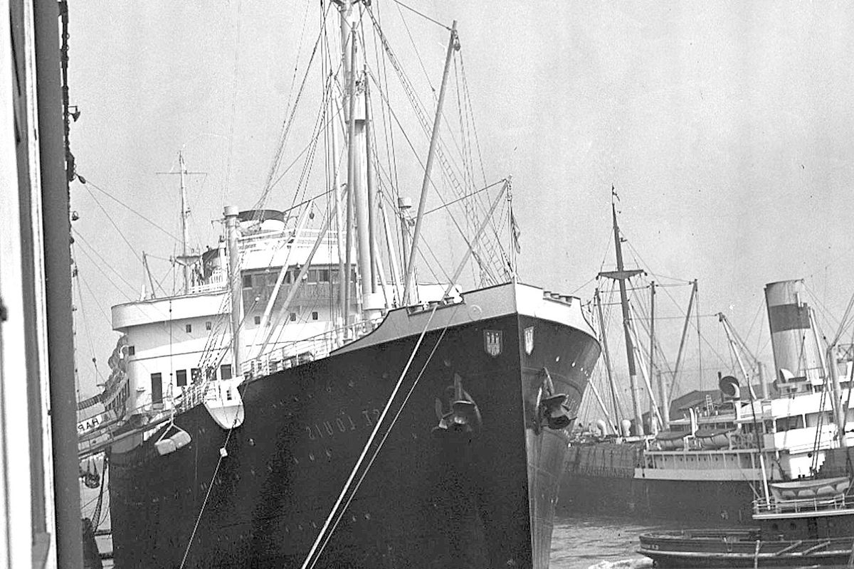 The St. Louis, seen here on Sept. 28, 1938, left Germany with 937 Jewish refugees aboard, but its entry to Cuba and Florida was denied.
