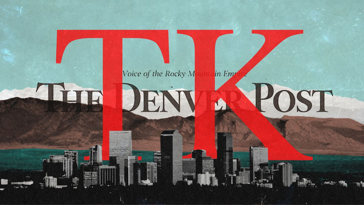 """A Denver Post ad with """"TK"""" written over it in in red"""