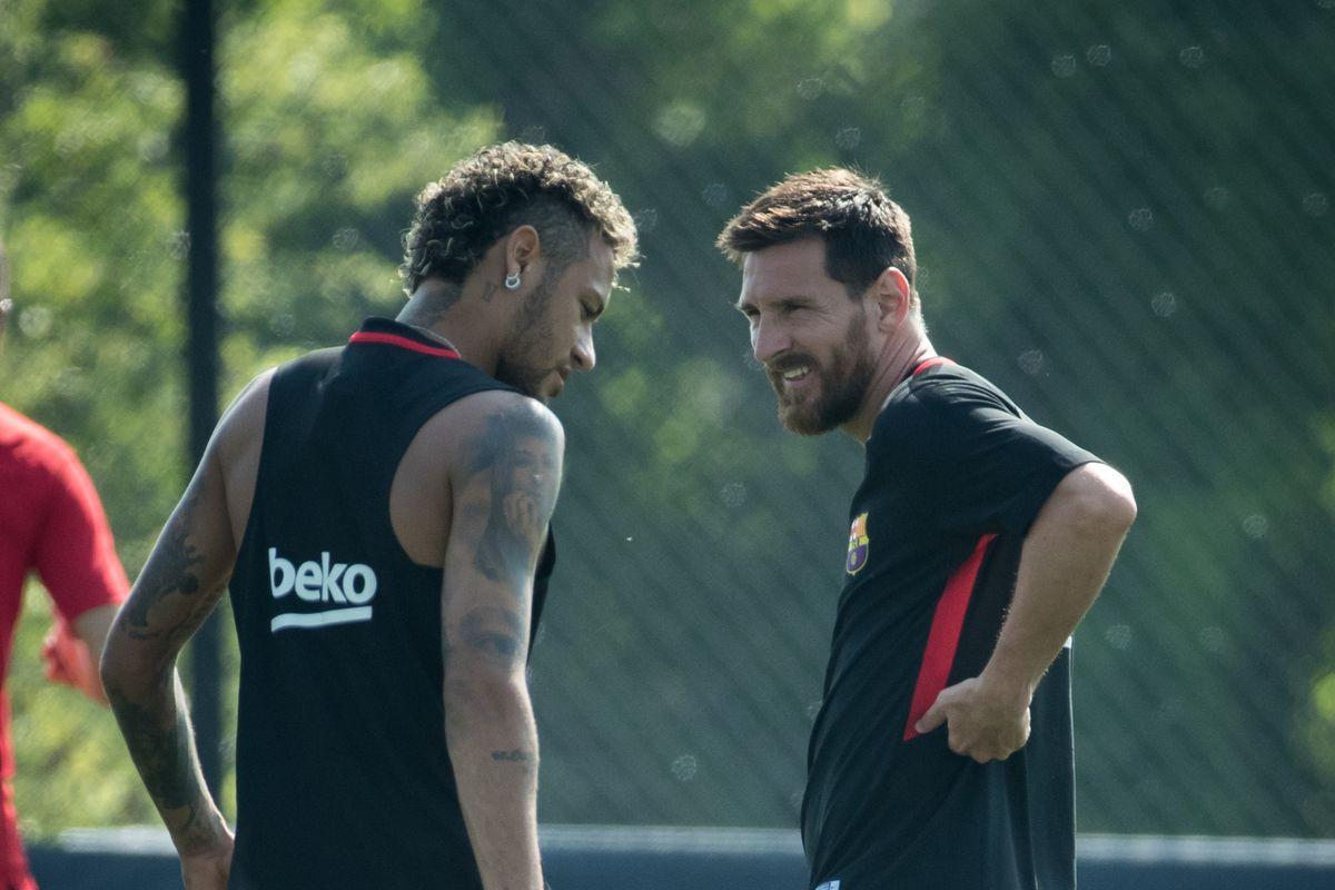 low cost 8e71e 7d615 FC Barcelona News: 4 July 2019; Lionel Messi and Neymar meet ...