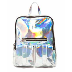 """If you're not the fanny pack type, this retro holographic backpack will surely bring some joy to your fellow riders. <b>Gammaray Pack</b>, $98 at <a href=""""http://unifclothing.com/womens/accessories/gammaray-pack"""">UNIF</a>"""