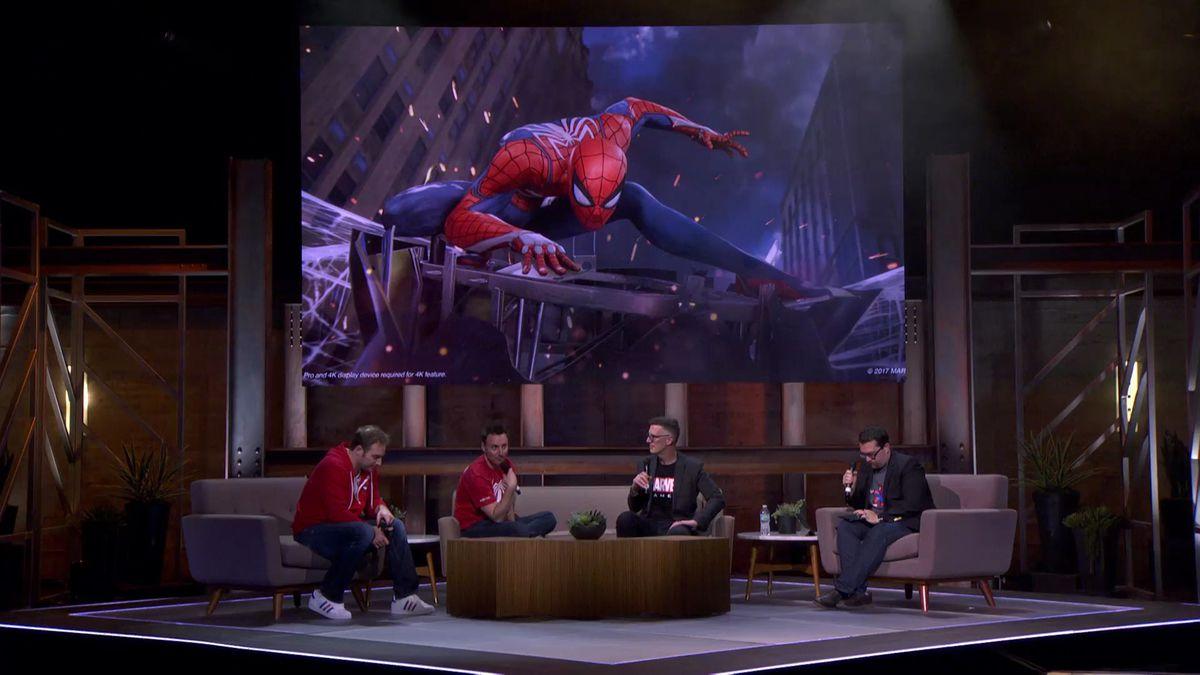E3 Coliseum Spider-Man panel fire