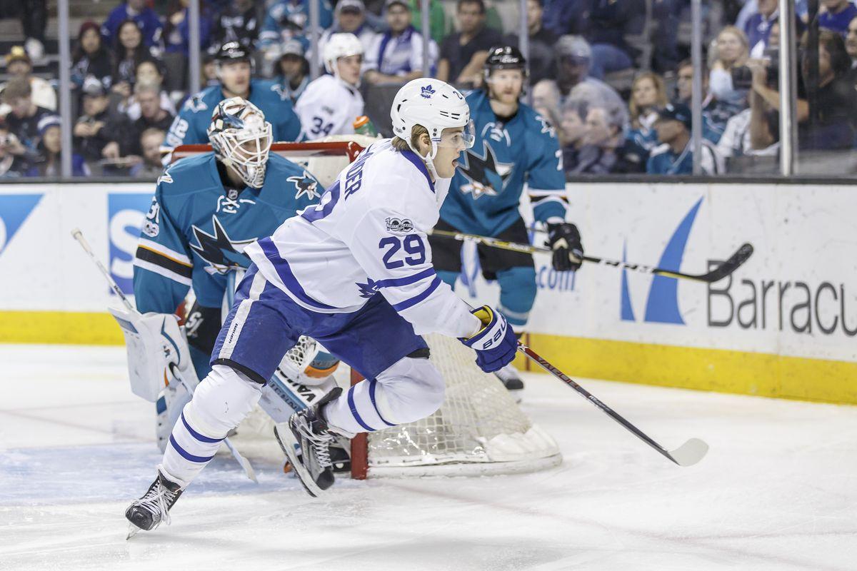 NHL: FEB 28 Maple Leafs at Sharks