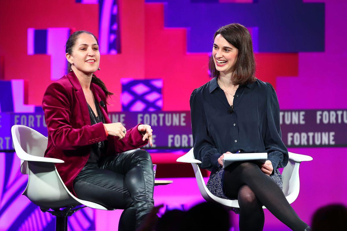 Jet.com president Liza Landsman speaks onstage with Fortune's Beth Kowitt