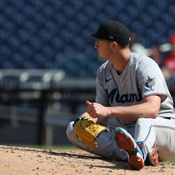 Trevor Rogers, Marlins starting pitcher on Tuesday