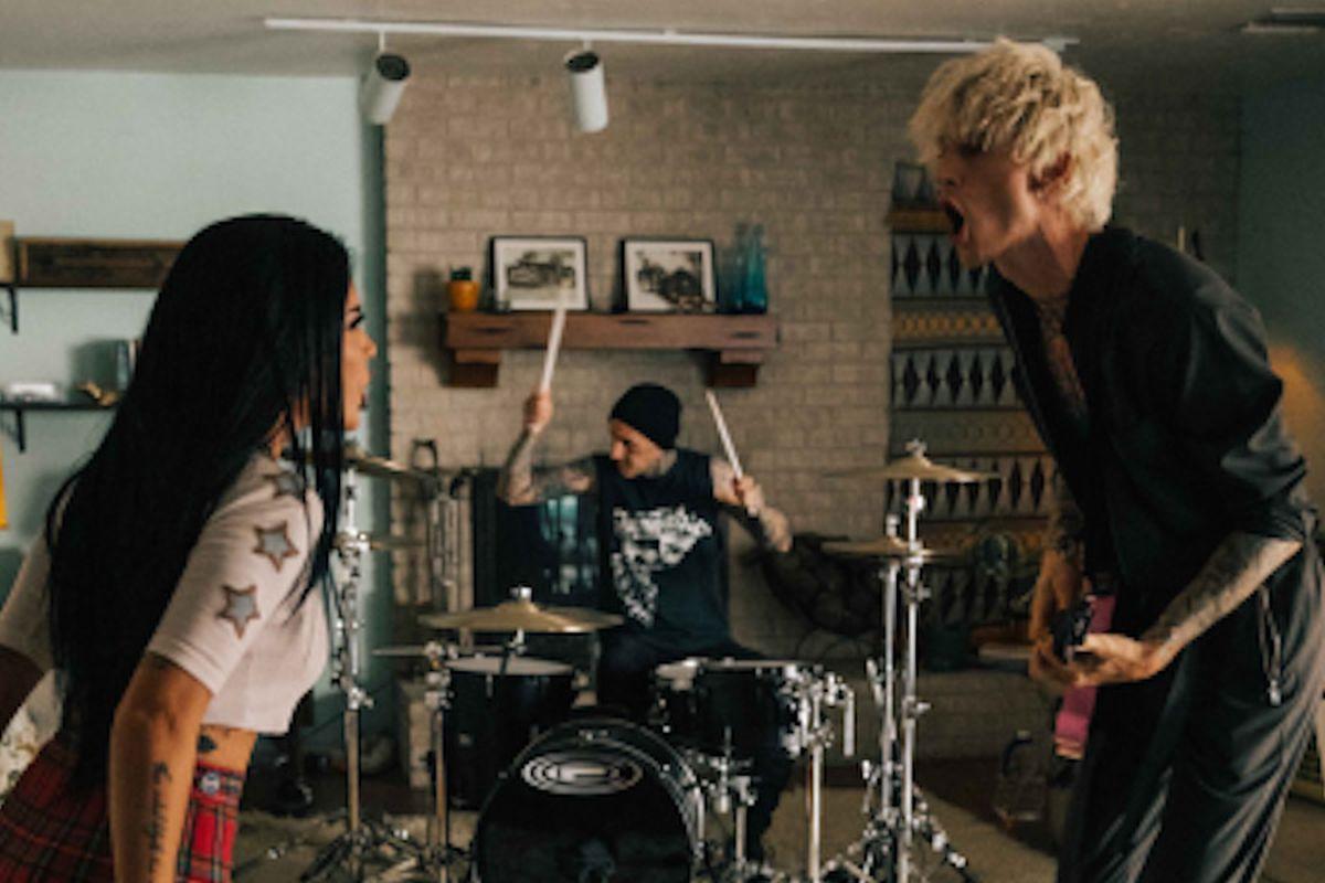 Halsey, Travis Barker, and Machine Gun Kelly