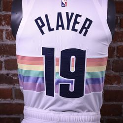 denver nuggets  brought   rainbow skyline jersey denver stiffs