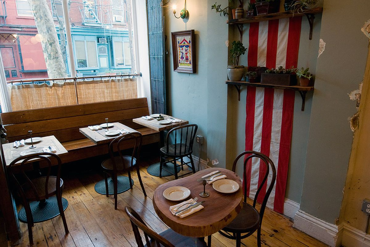 [The dining room at Vinegar Hill House]