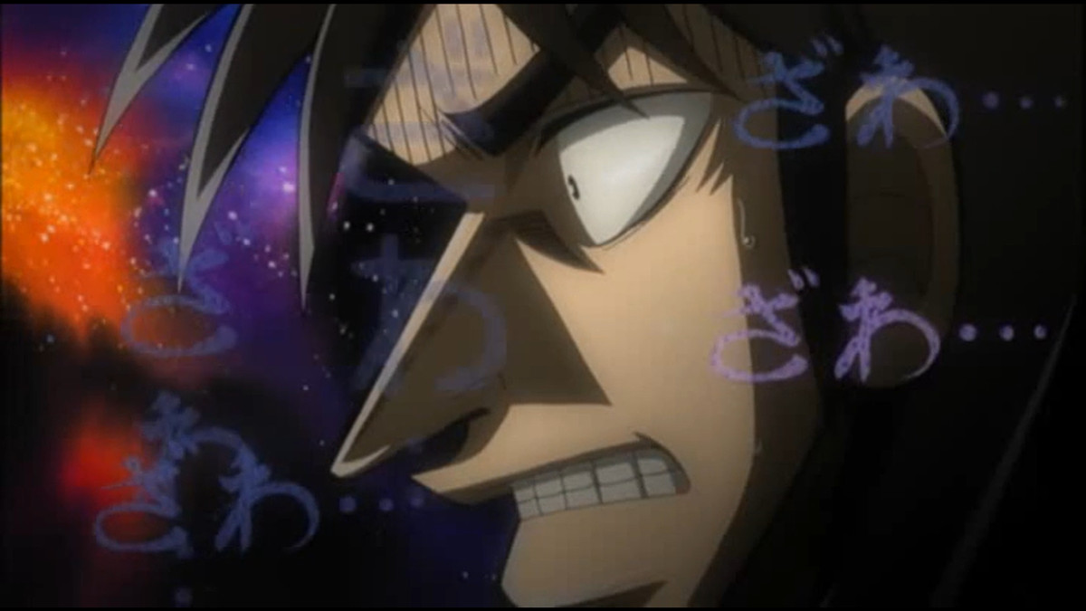 kaiji guy gnashing his teeth
